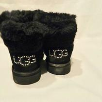Ugg Classic Bling Mini Boot Black Swarovski 6 Photo