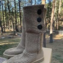 Ugg Classic Cardy Boots Size 8 Oatmeal Photo