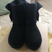 Ugg Classic Cardy Knit Black Boots New With Box Sz 7 Women/ 5 Big Kids Photo