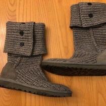 Ugg Classic Cardy Womens Knit Boot Gray - Size 6 - Euc Photo