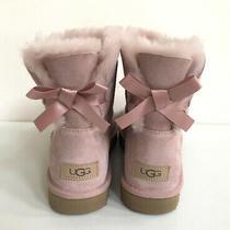 Ugg Classic Mini Bailey Bow Ii Pink Crystal Shearling Boot Us 7 / Eu 38 / Uk 5 Photo