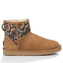 Ugg Classic Mini Floral Grunge Women's Chestnut 9 - Sold Out Photo