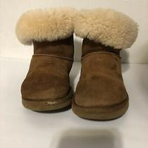 Ugg Classic Mini Fluff Booties Size 9 Pull on Brown Preowned(flaws on Both Toes) Photo