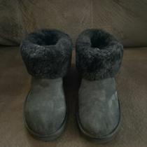 Ugg Classic Mini Fluff Sheepskin Ankle Boots Black Size 11 Photo