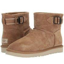 Ugg Classic Mini Strap Chestnut Suede Sheepskin Mens Ankle Boots Size Us 8 / New Photo