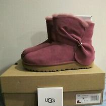 Ugg Classic Mini Twist Cuff Short Boots Raspberry Womens Size 7 Style 1099912 Photo