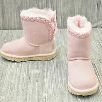 Ugg Classic Short Ii Braided 1103617t Boots Little Girl's Size 10m Blush New  Photo