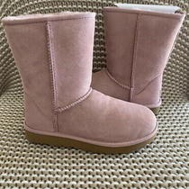 Ugg Classic Short Ii Pink Crystal Water Resistant Suede Sheepskin Womens 6-10 Photo