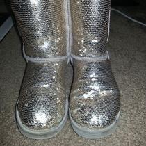 Ugg Classic Short Silver Sparkle Boots Photo