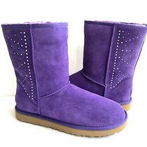 Ugg Classic Short Studded Violet Bloom Crystal Metal Boots Us 6 / Eu 37 / Uk 4 Photo