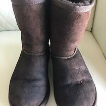 Ugg Classic Short Suede Boots 5251 Chocolate Brown Usa Size 2 Photo