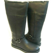 Ugg Classic Tall Berge Black Water Resistant Leather Boot Us 8 / Eu 39 / Uk 6 Photo