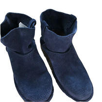 Ugg Classic Unlined Suede Mini Perf Boot - Womens Size 6 Navy Blue Soft Photo