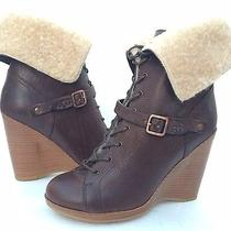 Ugg Collection Caprera Wedge Boots Brown Us 9.5 /eur 40.5 /uk 8 Made in Italy Photo