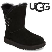 Ugg Constantine Women's Black Genuine Shearling Boot Pull-on Flat Boots Size 11 Photo