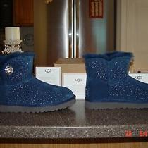 Ugg Constellation Bailey Button Bling Navy Blue Boots Size 10 New With Box Photo