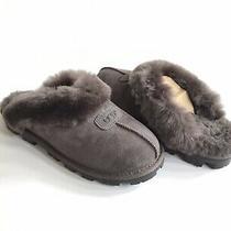 Ugg Coquette Grey Gray Shearling Mocassin Slippers Us 5 / Eu 36 / Uk 3 Nib Photo