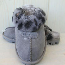 Ugg Coquette Leopard Charcoal Gray Womens Slippers  Us 8  Eu 39 Uk 6.5  Photo