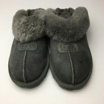 Ugg  Coquette Mens Authentic Grey Fur Mule Slippers Size 9 Lambs Fur Photo
