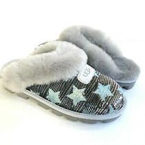Ugg Coquette Sequin Stars Grey Violet Mocassin Slippers Us 8 / Eu 39 / Uk 6 Photo
