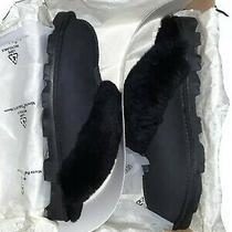 Ugg Coquette Slippers 5125 Black Size Us 8 Eu 39 Sheepskin Mule Slip-On Photo