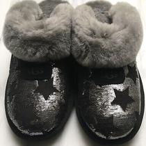 Ugg Coquette Slippers Size 7 Sequin Stars Shearling Slip on New Photo