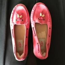 Ugg Coral Pink Nubuck Shoe Slipper Moccasin Size 6 Us Women Nearly New Photo