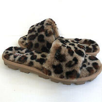 Ugg Cozette Leopard Amphora Shearling Mocassin Slippers Us 6 / Eu 37 / Uk 4 Photo