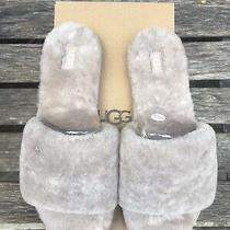 Ugg Cozette Sheepskin Slipper Slides Oyster Gray Beige Color Women's Size 9 Photo