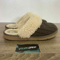 Ugg - Cozy Knit Cream Brown Slippers - Women's 10 - 1865 Photo