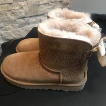 Ugg Dae Sunshine Perf 1019197 Chestnut Womans Boots 100% Authentic Sz 6 Photo