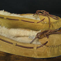 Ugg Dakota Brown Suede Shearling Lined Womens Slippers Size 8 Photo