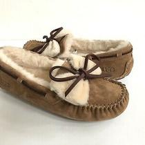 Ugg Dakota Double Bow Chestnut Shearling Moccasin Slippers Us 8 / Eu 39 / Uk 6 Photo