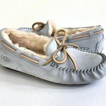 Ugg Dakota Sky Blue Shearling Lined Slippers Moccasin Shoe Us 6 / Eu 37 / Uk 4 Photo