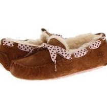 Ugg Dakota Slippers Chestnut Pink Polka Dot Suede Sheepskin Sheepskin Sold Out 5 Photo