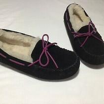 Ugg Dakota Slippers Moccasins Suede Sheepskin Size Us 8 Womens   Authentic New Photo