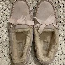 Ugg Dakota Stripe Seal Suede Fur Slippers Womens Size 8.5 Pink Photo