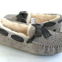 Ugg Dakota Sunshine Perf Oyster Shearling Lined Slippers Us 8 / Eu 39 / Uk 6 Photo