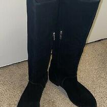 Ugg Daley Black Suede Tall Riding  Boots Womens Us 8.5 Photo