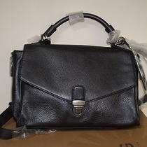 Ugg Ellison Flap Satchel Cross Body/shoulder Purse Black Leather Nwot 395 Msrp Photo