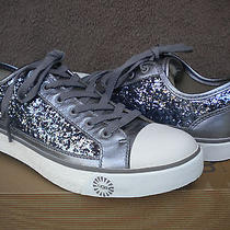 Ugg Evera Sterling Silver Glitter Sparkles Sneaker Shoes 8/39 uk6.5 New 1004223 Photo