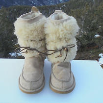 Ugg Fashion Boots Style 5189 Eskimo Furr Cuff Tan Suede Ranier Sherpa Size 10  Photo