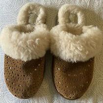 Ugg Finn Sunburst Perforated Slippers Size 3 (Kid) Photo