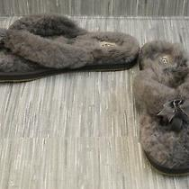 Ugg Fluff Fur Slippers Women's Size 12 Gray Photo