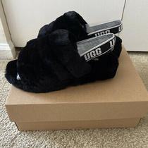 Ugg Fluff Yeah Slide Black Slingback Slippers Size Us 9 Women Brand New in Box Photo