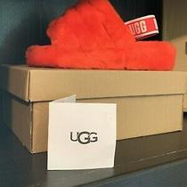 Ugg Fluff Yeah Slide Ribbon Red Fur Slippers Womens Size 9 Nib Photo