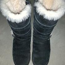 Ugg Fringe Boots Girls Youth Size Uk2 Photo