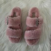 Ugg Fuzz Yeah Pink Crystal Fuzzy Slides/slippers/sandals/wedges Size 7 Women  Photo