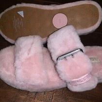 Ugg Fuzz Yeah Sheepskin Slipper Slide Sandals 1104662 Pink Crystal Size 8 Photo