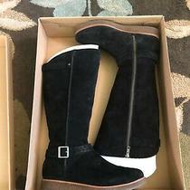 Ugg Gellar Women's Knee High Boot Black Suede Water Resistant Equestrian Size 10 Photo